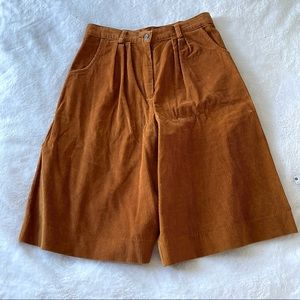 IZOD Lacoste vintage cord high rise shorts 10 (ш9)